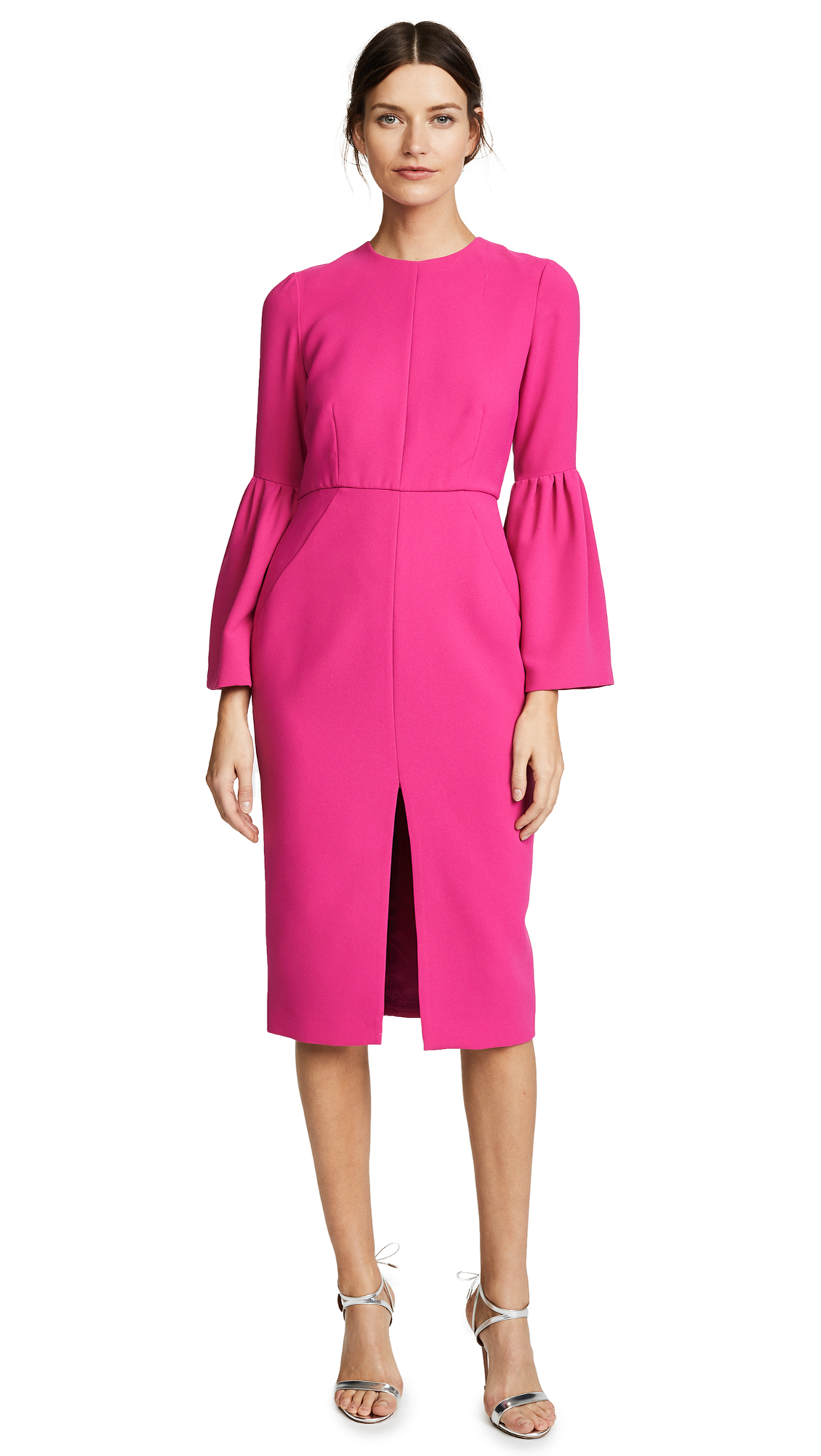 Jill Jill Stuart Bell Sleeved Dress - Begonia Pink