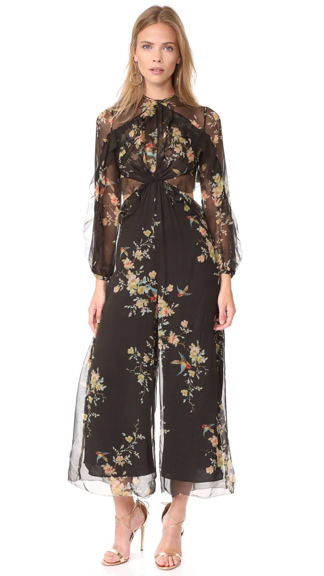 Floral Print Jumpsuit by Zimmermann